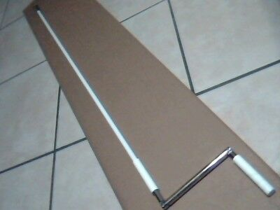 Roll Shutter Crank Handle Pole with Bell, 5 feet, includes W