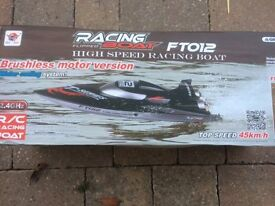 Feilun FT012 2.4G Brushless 45km/h High Speed RC Racing Boat