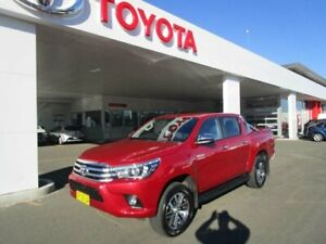 2018 Toyota Hilux GUN126R MY17 SR5+ (4x4) Olympia Red 6 Speed Automatic Dual Cab Utility South Hurstville Kogarah Area Preview