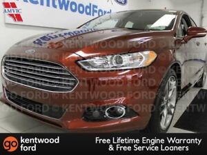 2016 Ford Fusion Titanium AWD ecoboost with NAV, heated/cooled p