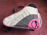 SFR grey/pink roller/ice skate bag, good condition