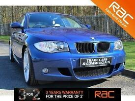 2008 08 BMW 1 SERIES 2.0 120D M SPORT 3D 175 BHP DIESEL