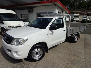 2009 Toyota Hilux GGN15R 08 Upgrade SR White 5 Speed Manual Cab Chassis Sylvania Sutherland Area Preview