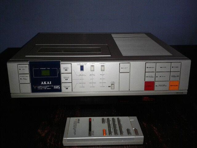 Retro Akai Top Loader Vcr Model Vs 2ek Amp Remote