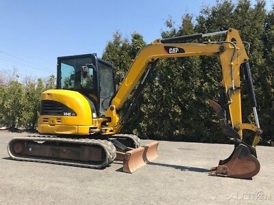 2009 Caterpillar 304c Cr Crawler Excavator Cab Ac Hydraulic Thumb Rubber Track