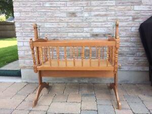 Wood Baby Cradle