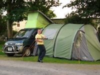 Mazda bongo drive away awning camper van motorbike camping