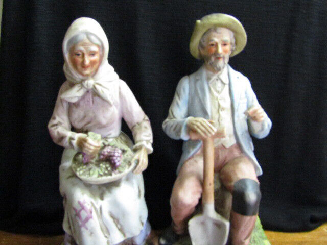 Homco Old man and Woman Figurines
