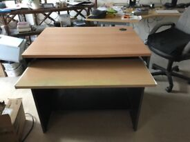 Small computer desk - with keyboard drawer