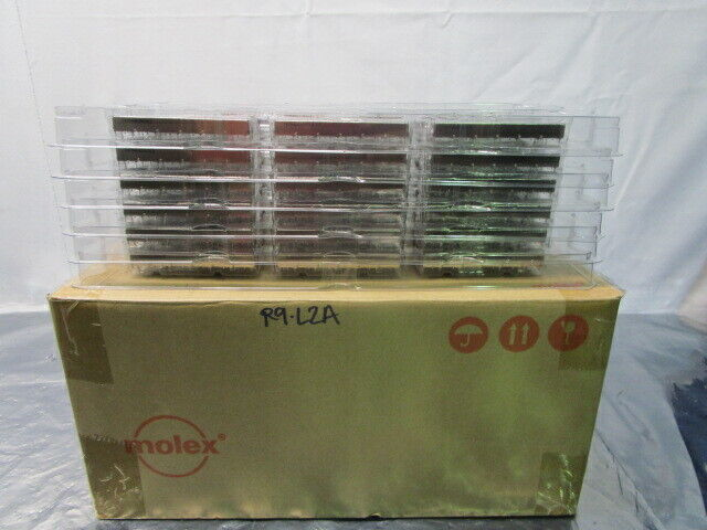 1 Lot of 36 Molex 0747540620 SFP + 1X6 Ganged Cage for Light Pipes, 101909