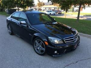 2009 MERCEDES BENZ C63 AMG NAVI ROOF WOW 97K  4DOOR BLK/BLK