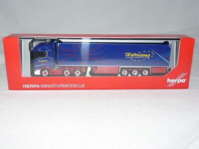 herpa 312738 Scania CS 20 HD Kühlkoffer-Sattelzug Harrisons 1:87 NEU + OVP