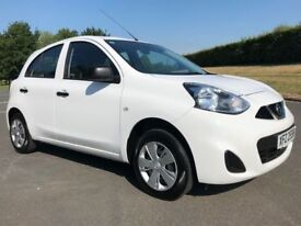 NISSAN MICRA 1.2 VISIA 5d 79 BHP ONLY £30 ROAD TAX, IDEAL FIRST CAR (white) 2015