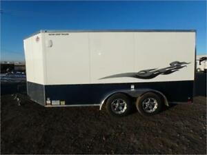 17' LOW RIDER ENCLOSED MOTORCYCLE TRAILER -*Screwless*-