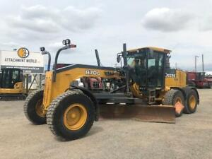 2011 Deere 870G Grader with Wing For Sale! ONLY 7,449 Hours!