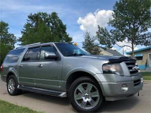 2008 Ford Expedition Max Limited = HIGHWAY KM = DVD = AC SEATS..
