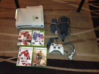 Xbox 360 with all cable 1 controller 20gb Hd Headset 4 game