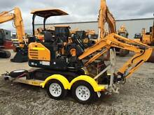 Hyundai R16-9 (1.6t) Mini Excavator With Trailer Combo Brisbane City Brisbane North West Preview