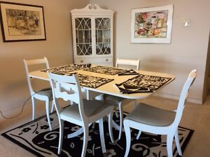 Vintage Dining Room with  4 chairs and corner cabinet Sarnia Sarnia Area image 1