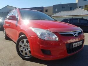 2008 Hyundai i30 FD SX 1.6 CRDi Red 4 Sp Automatic Wagon Edgeworth Lake Macquarie Area Preview