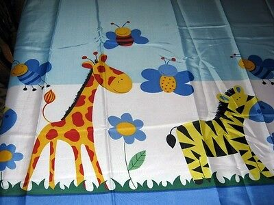 (Free Shipping ANIMAL Fabric Shower Curtain ~ZEBRA/GIRAFFE/BUTTERFLY/FLOWER~  New)