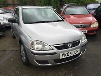 2005 Vauxhall Corsa 1 litre, 10 months MOT, 85,000 miles, ideal first car, drives fantastic