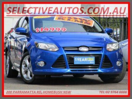 2013 Ford Focus LW MK2 Sport Blue 6 Speed Automatic Hatchback