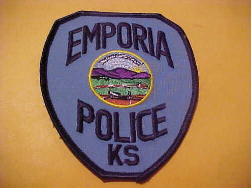 EMPORIA KANSAS POLICE PATCH SHOULDER SIZE UNUSED