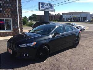 2014 Ford Fusion SE Black on Black Leather, Sunroof and more