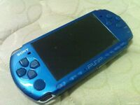 psp 3000 with 32gb memory and 200 games