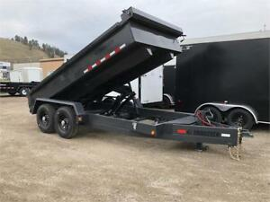 TRAILTECH 2019 CHARCOAL EXTRA HEAVY DUTY 7' x 14' DUMP TRAILER