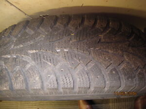 Snow Tires on Steel Rims c/w Free storage rack London Ontario image 2