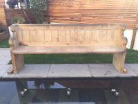 Wooden Church Pew / Bench