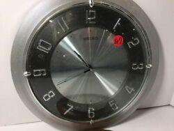 Contemporary Seiko Round Wall Clock Black Dial & Silver Surround