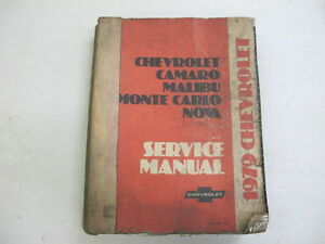 1979 Chevy Camaro Nova Chevelle Service Manual