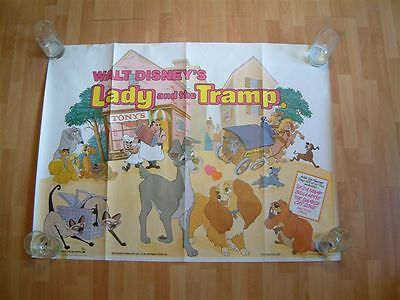 Walt Disney's 'LADY AND THE TRAMP' (1983) Original British Quad Movie Poster