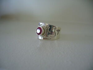 Beautiful Genuine Ruby Ladies ring, size 7