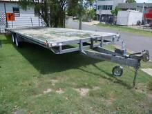 CAR TRAILER HIRE 8 meter  x 2.4m FLAT BED TRAY from $85 per 24hr Brisbane Region Preview