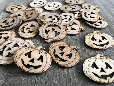25 Streudeko Holz Tischdeko Deko Basteln Streuteile Kürbis Halloween Herbst  - Halloween Basteln