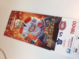 TORONTO MAPLE LEAFS CANADIENS MONTREAL RED TICKET BILLETS 14
