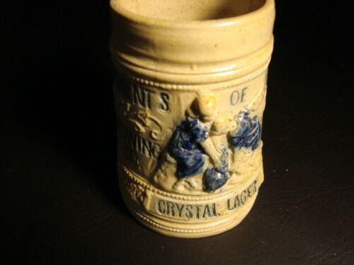 Circa 1900 Crystal Lager Stoneware Mug, Syracuse, New York