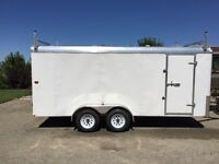 2014 TNT White 16ft Cargo Trailer