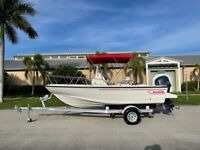 1998 Boston Whaler 17 Outrage Center Console 115 Yamaha 4 Stroke 40 Hours Trl