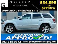 2010 Grand Cherokee SRT8 AWD $279 bi-weekly APPLY NOW DRIVE NOW