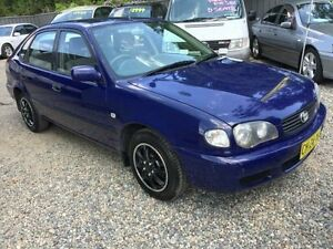 2000 Toyota Corolla AE112R Ascent Blue 5 Speed Manual Sedan Jewells Lake Macquarie Area Preview