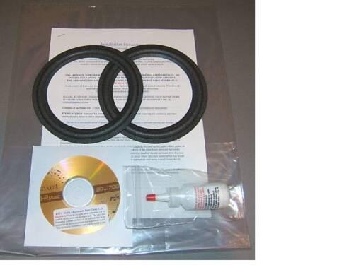 """Infinity RS10, RS10B, RS225, RS325  6""""/ 6.5"""" Foam Surround Speaker Repair Kit"""