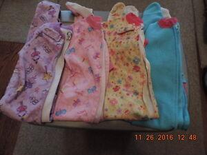 Girl's Size 3T Fleece Sleepers/Onesies London Ontario image 2