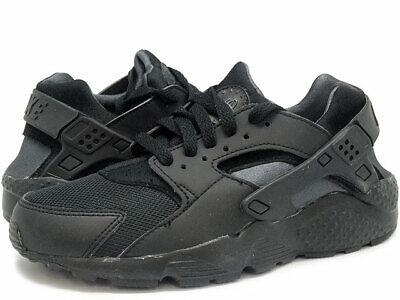 Boys Nike Air Huarache Run GS Trainers Black 654275-020 Size Y4
