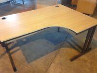Oak effect right hand corner desk