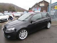 VW Golf GT TDI 3d 138 BHP new model golf old money (black) 2010